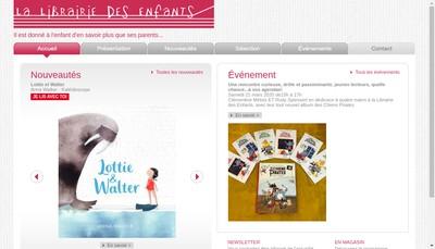 Site internet de La Librairie des Enfants