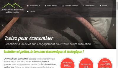 Site internet de SARL la Maison des Economies