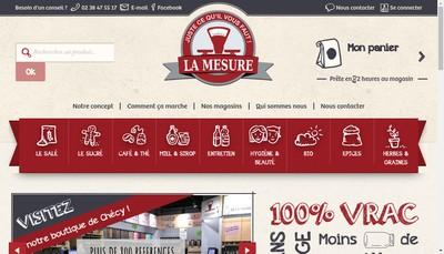 Site internet de La Mesure