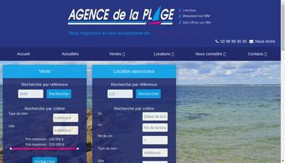Site internet de Agence de la Plage