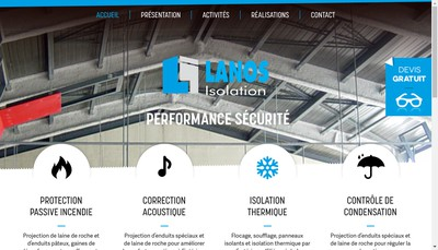 Site internet de Lanos Isolation