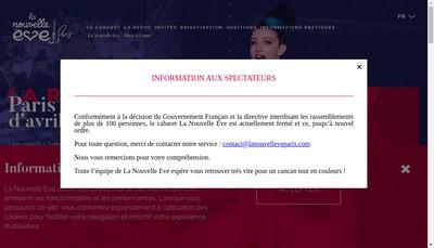 Site internet de Organ Spect Nouvelle Eve