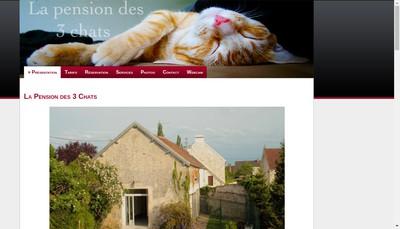 Site internet de La Pension des 3 Chats