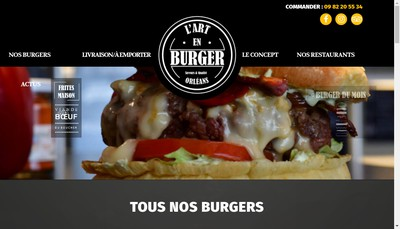 Site internet de L'Art du Burger