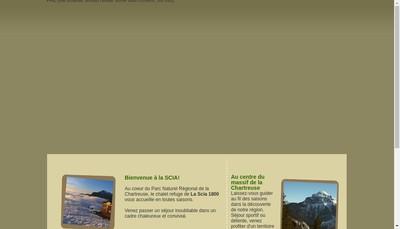 Site internet de Chalet Refuge de la Scia
