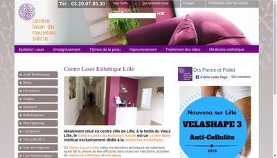 Site internet de Centre d'Esthetique et Lasers du Nouveau Siecle