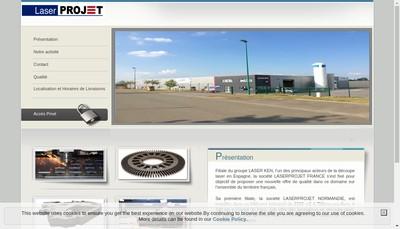 Site internet de Laserprojet