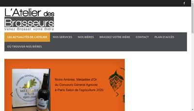Site internet de L'Atelier des Brasseurs