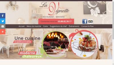 Site internet de Cafe Restaurant a la Vignette