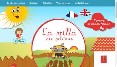 Site internet de La Villa des Petitous