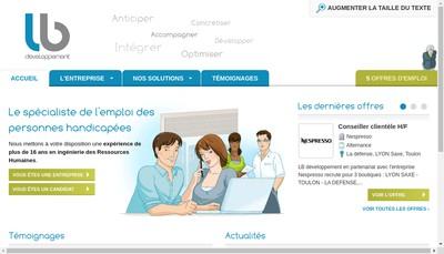 Site internet de Lb Developpement