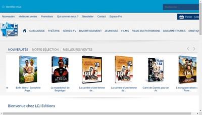 Site internet de LCJ Editions et Productions