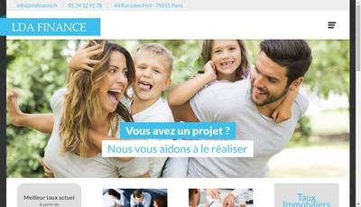 Site internet de Lda Finance