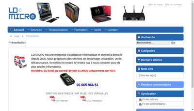 Site internet de Ld Micro