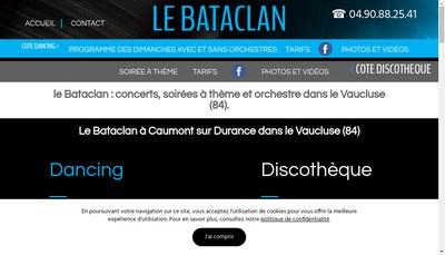 Site internet de Dancing le Bataclan