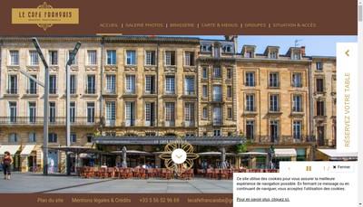 Site internet de Cafe Francais