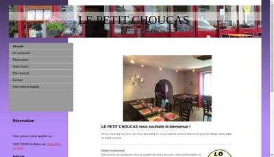 Site internet de Le Petit Choucas