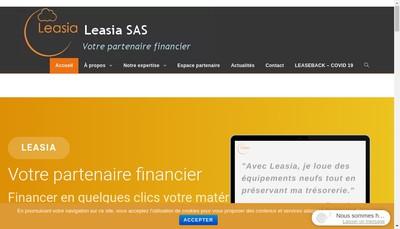 Site internet de Leasia SAS