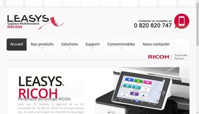 Site internet de Leasys