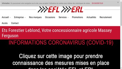 Site internet de Etablissements Forestier-Leblond