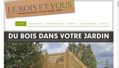 Site internet de Le Bois et Vous