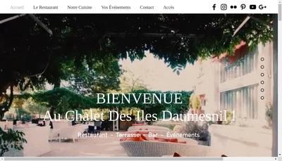 Site internet de Le Chalet des Iles Daumesnil