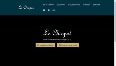 Site internet de Le Chiopot