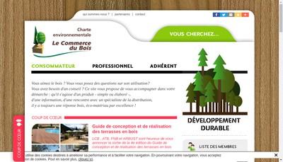 Site internet de Le Commerce du Bois