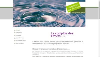 Site internet de Le Comptoir des Savoirs