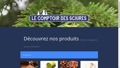 Site internet de Le Comptoir des Sciures