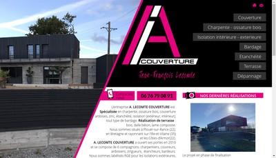 Site internet de A Lecomte Couverture