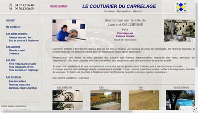 Site internet de Le Couturier du Carrelage