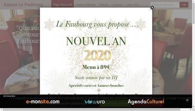 Site internet de Le Faubourg