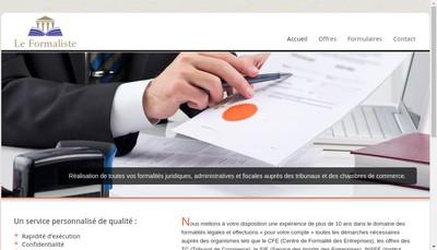 Site internet de Le Formaliste