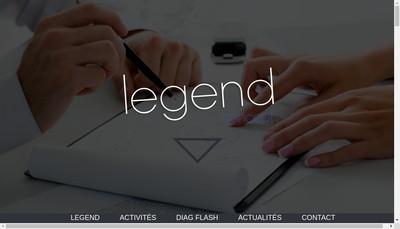 Site internet de Legend Concept