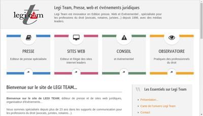 Site internet de Legi Team
