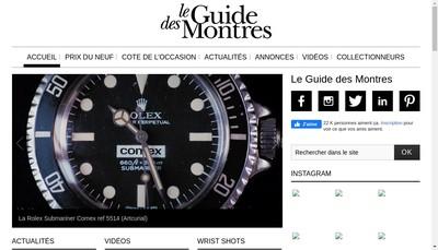 Site internet de Le Guide des Montres Com