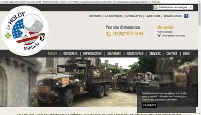 Site internet de La Boutique du Holdy