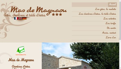 Site internet de Mas de Magnaou