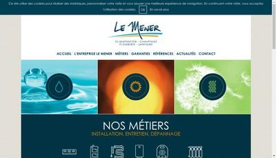 Site internet de Entreprise le Mener