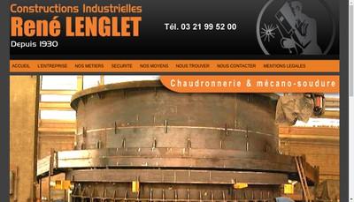 Site internet de Constructions Industrielles Rene Lenglet