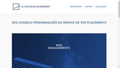 Site internet de Le Nouveau Placement