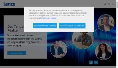Site internet de Lenze SAS