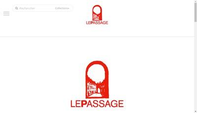 Site internet de Le Passage Paris New York Editions