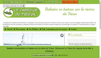 Site internet de Le Passeur du Trieux
