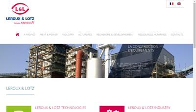 Site internet de Leroux et Lotz Turbomachines