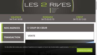 Site internet de Les 2 Rives