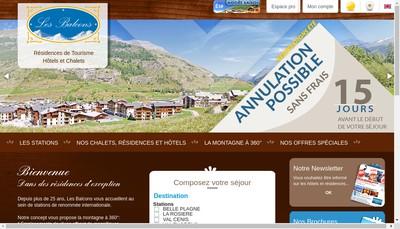 Site internet de Les Balcons de Val Cenis Village