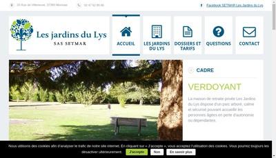 Site internet de Setmar - les Jardins du Lys