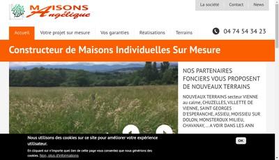 Site internet de Les Maisons Angelique